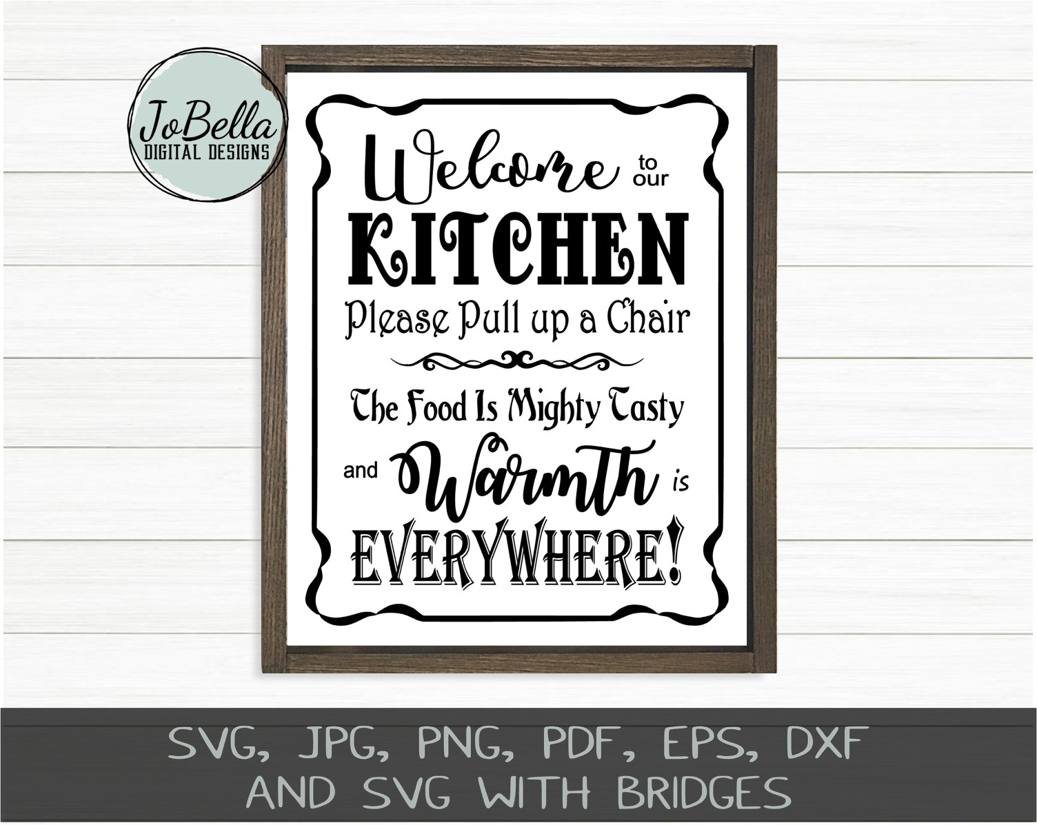 Welcome To Our Kitchen Svg Printable And Sublimation Png